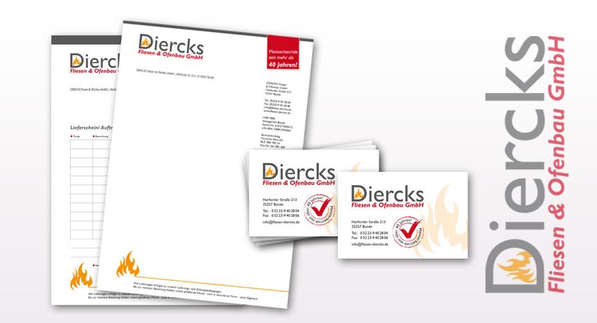 Geschäftsausstattung Diercks Fliesen & enbau GmbH